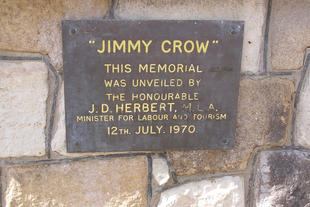Jimmy Crow memorial sign